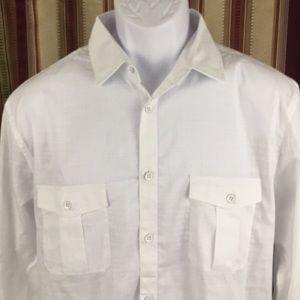 3/$35 New Alfani long sleeve button casual shirt